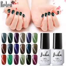 belen 7ml 3d cat eye magnetic color nail gel polish soak off diy nail art uv led lamp top base lucky varnish colors gel lacquer malaysia