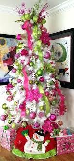 excellent white xmas tree decoration ideas collection extraordinary white tree  decoration pink colorful white tree with