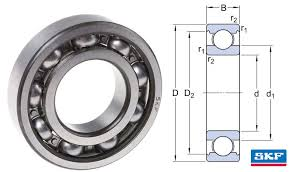 625 Skf Open Deep Groove Ball Bearing 5x16x5mm Skf Deep