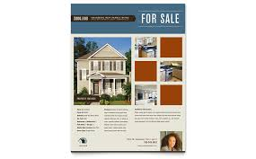 Residential Realtor Flyer Template Word Publisher