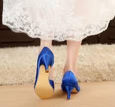 Royal Blue Designer Shoes Satin Elegant Satin Shoes Royal Blue Dress Shoes Blue