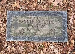 """Frances Margaret """"Fannie"""" Estes Ritchie Barrow (1867-1943) - Find A Grave  Memorial"""