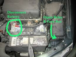 toyota camry a c button flashing blinking repair it for  disconnect your battery and open the relay fuse box to the right of your battery