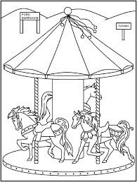 Playground Equipment Coloring Pages Best Carousel Sheets Images On