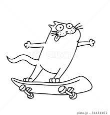 スケートボード 男 おしゃれ 通り 男性のイラスト素材 Pixta