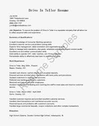 Bank Teller Resume Sample With Job Objective Vinodomia On For