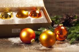 Saico Christbaumschmuck Kugelsortiment Gold Orange 24 Stück