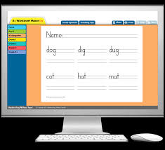Handwriting Worksheets Maker A Worksheet Maker Lite Learning Without Tears