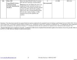 Medicare Claim Form Adorable Claim Filing Instructions For AmeriHealth Caritas Louisiana