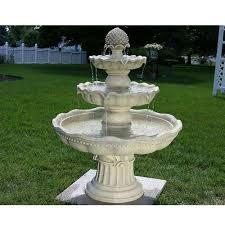 white stone garden fountains a one