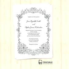 free wedding invitation templates doodle foliage frame with included fonts indian editable hindu d