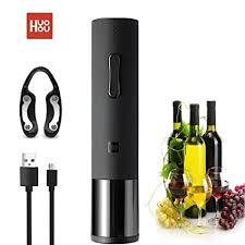 <b>HUOHOU Electric Wine Opener</b>, <b>Automatic</b> Cordless Corkscrew ...
