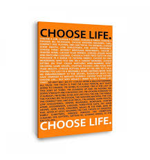 Comprar Cuadro Canvas Trainspotting Choose Life Online
