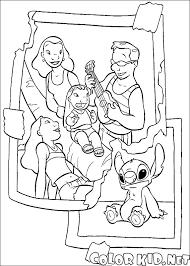 Disegni Da Colorare Nuovo Stitch Famiglia Con Stitch Da Colorare E