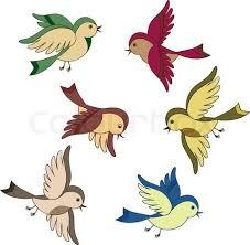 cute bird drawing flying.  Cute Cute Vintage Cartoon Couples  Stock Vector Of U0027set Flying Bird Cartoonu0027 Inside Bird Drawing Flying R