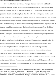 translation essay mother teresa essay in punjabi language resume direct vs translated writing what students do and the strategies the checklists contained possible processing strategies