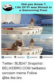 did you know life of pi was filmed in a swimming pool life of  be like life and medid you know life of pi was