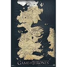 amazon com game of thrones world map westeros and essos tv poster Map Of Game Of Thrones World Pdf game of thrones map wall poster map of game of thrones world 2016