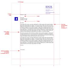 Standard Letter Stationery System Graphic Identities Standards Knox College