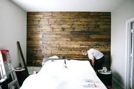 diy wooden plank wall master bedroom wood wall tutorial diy wood plank accent wall