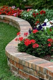 brick garden garden flower beds brick