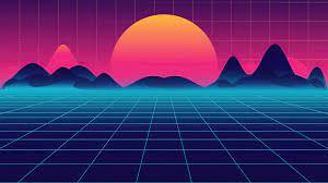 2048x2048 Retro Synthwave Sunrise 4k ...