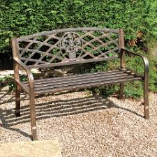 Greenhurst Coalbrookdale 2 Seater Bench Dark Copper On SaleGarden Metal Bench