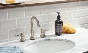Backsplash for bathroom Diy How To Install Tile Backsplash In The Bathroom Overstock How To Install Tile Backsplash In The Bathroom Overstockcom