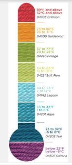 Bernat Temperature Blanket Color Chart Crochet Patterns