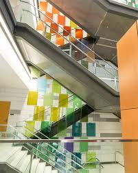 photo derrick turner msu colored glass panels