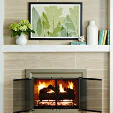 easy fireplace mantel makeover brick to tile design covering brick fireplace with ceramic tile