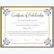 scholarship templates 13 best certificate of scholarship templates images on pinterest