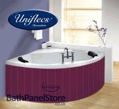 aubergine purple mdf flexible bath panel ideal for corner bath and offset baths
