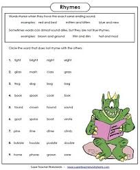Our large collection of ela worksheets are a great study tool for all ages. Rhyming Word Worksheets Rhyming Worksheet Rhyming Words Worksheets Rhyming Words
