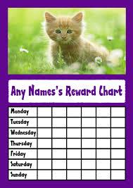 Kitten In The Grass Reward Chart
