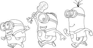 Minion Coloring Pages To Print Free Printable Minion Coloring Pages
