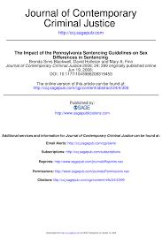 Iowa Sentencing Chart Pdf The Impact Of The Pennsylvania Sentencing Guidelines On