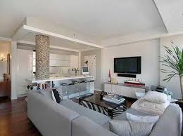 the brick condo furniture. Living Room, White Fur Stool Cushion Brown Leather Sofa Wall In Horse Drawing Grey Floor The Brick Condo Furniture