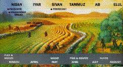 Israelite Chart A Chart Of Israelite Annual Festivals Gci Archive