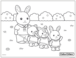 Calico Critters Coloring Pages 42667 Francofestnet