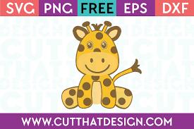 Ai (adobe illustrator) eps (encapsulated postscript). Free Svg Files Cute Baby Giraffe Cut That Design