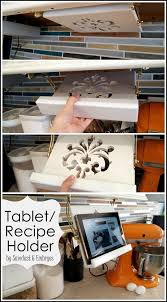 diy tabletrecipe book holder under cabinets cabinet lighting flip book