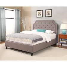 Upholstered platform bed frame Taupe Bed Abbyson Sierra Studded Upholstered Platform Bed Pottery Barn Shop Abbyson Sierra Studded Upholstered Platform Bed On Sale