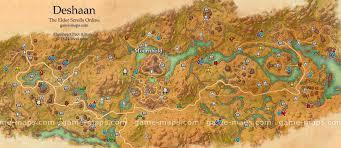deshaan map  the elder scrolls online  gamemapscom