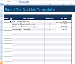 Todo List In Excel Get To Do List Template Excel Xls Microsoft Excel Templates