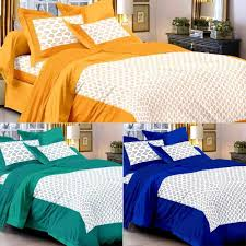 cotton bed sheets. Unique Bed Uniqchoice Set Of 3 Rajasthani King Size Cotton Bedsheets With 6 Pillow  Covers  Bed Sheets  HomeShop18 Throughout T