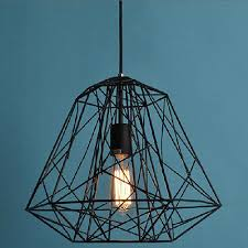 1 of 6free large edison vintage pendant light chandelier rustic cage hanging ceiling lamp