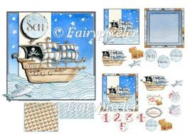 instant card making downloads pirate ship card kit 1 20 instant card kit pirate ships and
