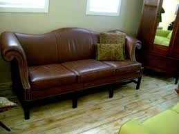 pretty camelback leather sofa