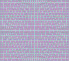 Mint On Violet Warped Grid Wallpaper Technoplastique